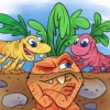 Veggie Carrot Root Dinosaur Illustration