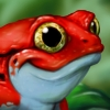 Cartoon Tomato Frog Children's Illustration