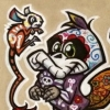Day of the Dead Style Cartoon Animals