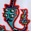 Steampunk Mustached Alien Cartoon Character