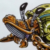 Humpback Whale Hermit Crab Mashup Robot Drawing