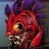 Murloc Fish Humanoid Creature Concept Illustration