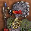 Primitive Tribal Bird Warrior Character Creature Concept