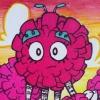 Cartoon Fluffy Pink Tree Monster Illustration