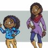 African American family Character Designs for Children's Book