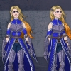 Female Warrior Knight wearing armor cloak color character concept artwork turnaround views for video game