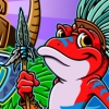 Tiki Frogs with Background Mobile Game Start Screen