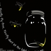 Modern Contemporary Fireflies Vector T-shirt Design