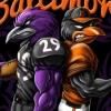 Raven Oriole football baseball t-shirt deisgn