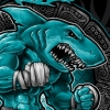 shark beast photoshop t-shirt illustration