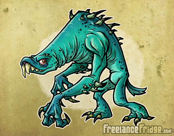 Spiked, Clawed, & Sharp Toothed Monster Creature character concept artwork