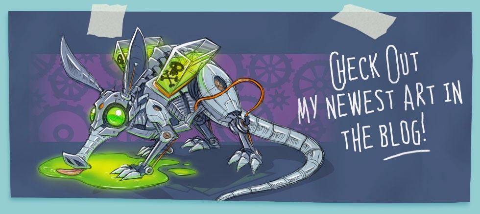 Blog Artwork Banner for creative imaginative characters, creatures, and cartoons