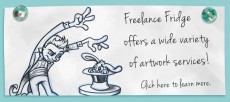 Freelance Fridge can handle all of your artwork needs!