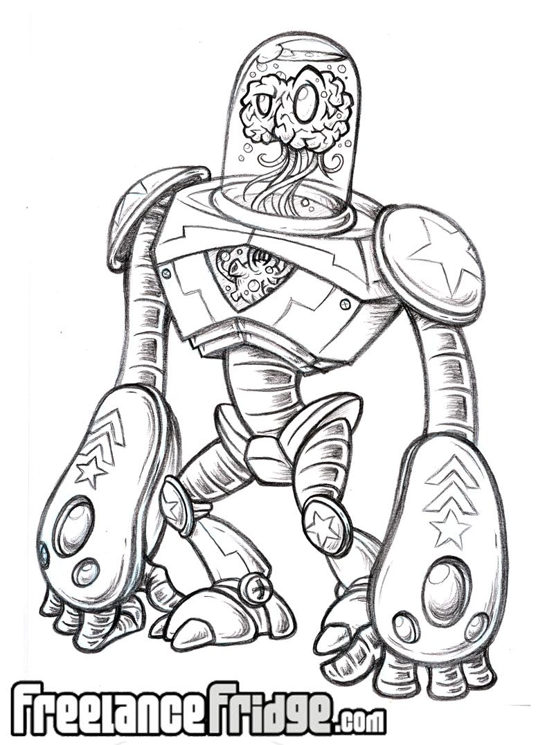 Alien Robot Drawings Robot Suit Fun to Draw