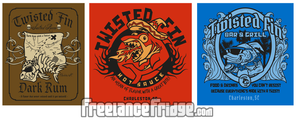 Twisted Fin Fish Tee Designs