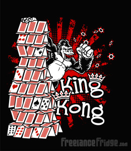 POKER King Kong tee design