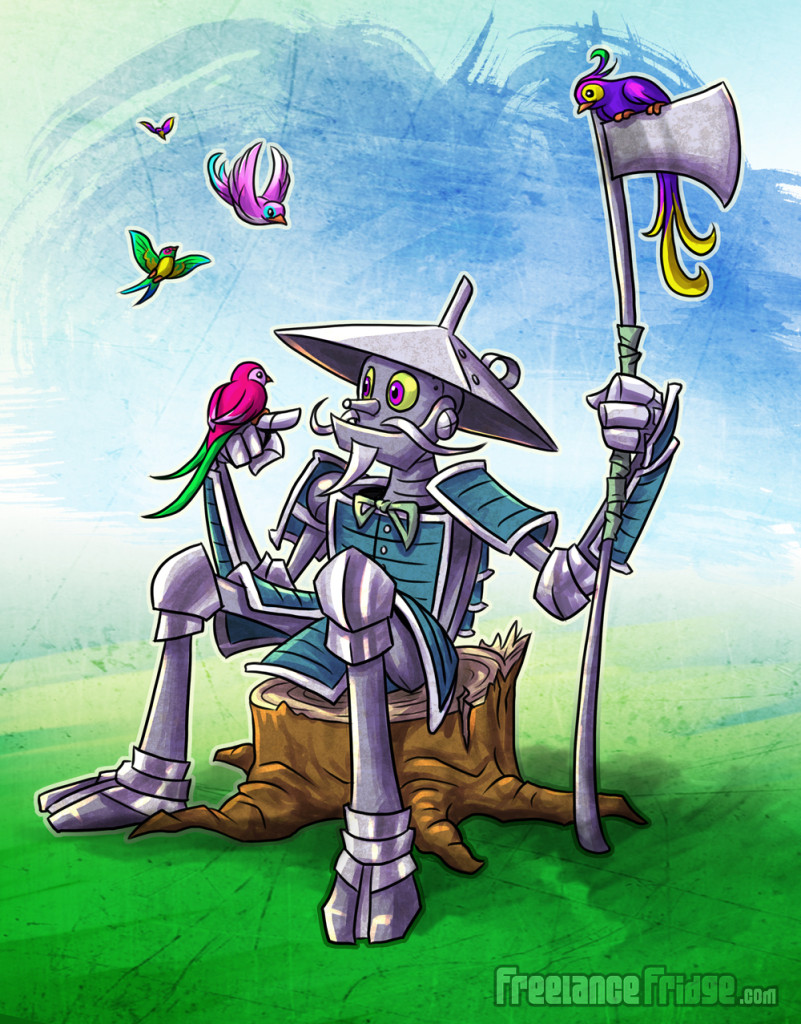 Samurai Tinman Wizard of Oz Cartoon