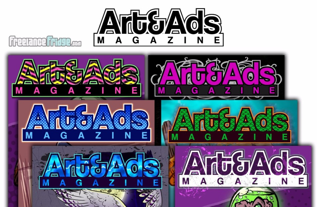 Logo Design and color treatments for an art magazine logo