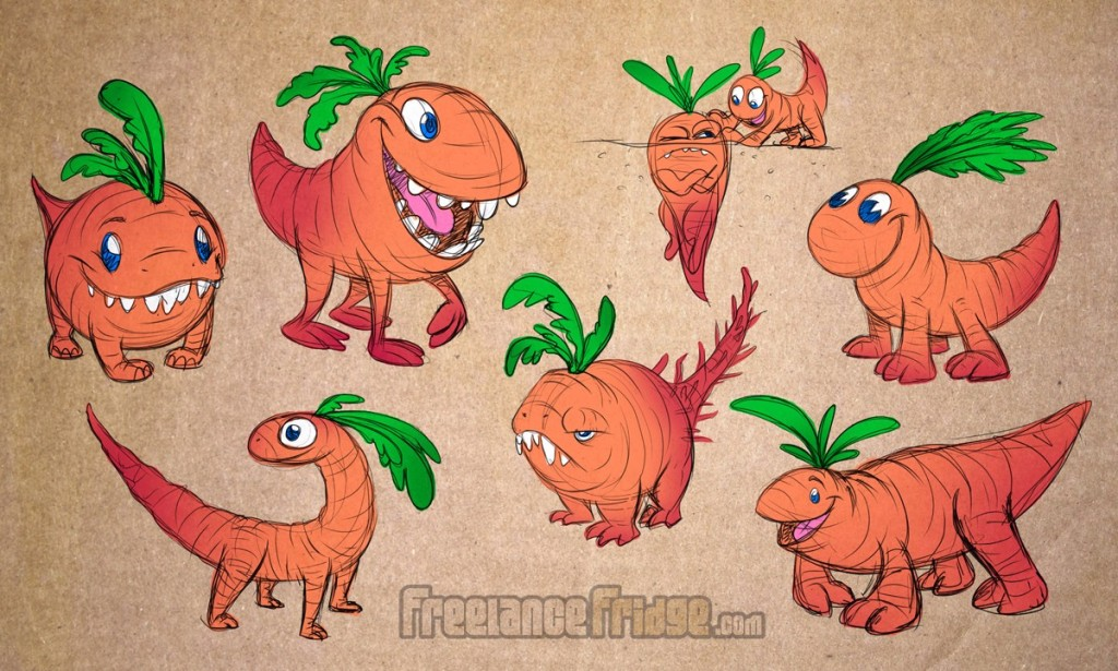 Vegetable Root Carrot Dinosaur Creatures Monsters Concepts Drawings