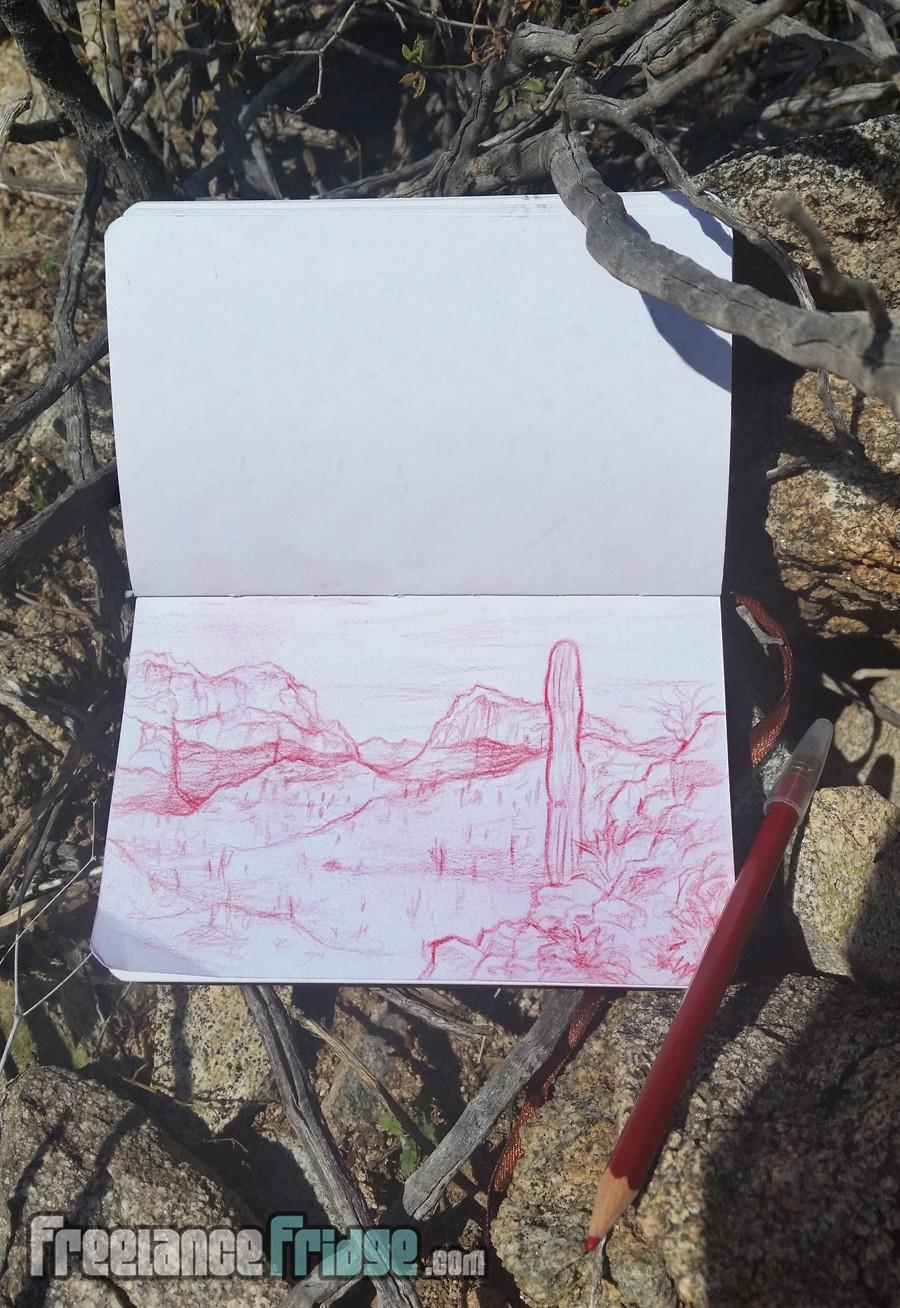 Desert Sketch & Hike in Arizona