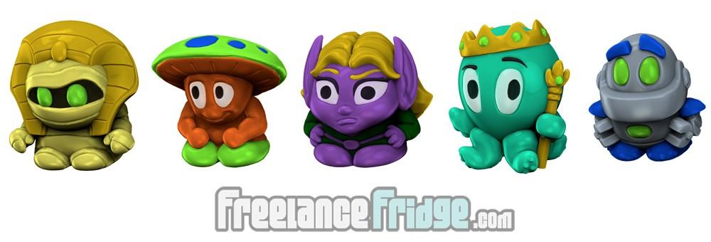Imagiminis 1 Fantasy SciFi Cartoon Cute Toy Figurines 3D Modeling Renders