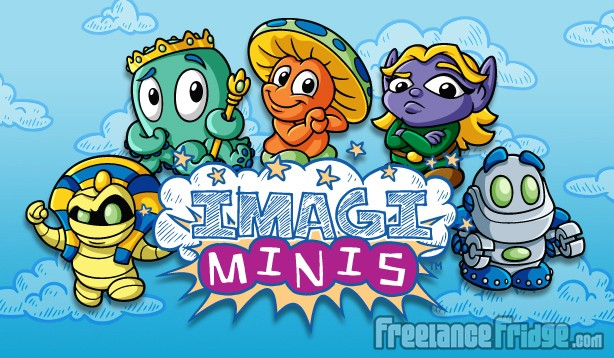 Imagiminis 1 Fantasy SciFi Cartoon Toy Figurines Vector Illustrated Characters