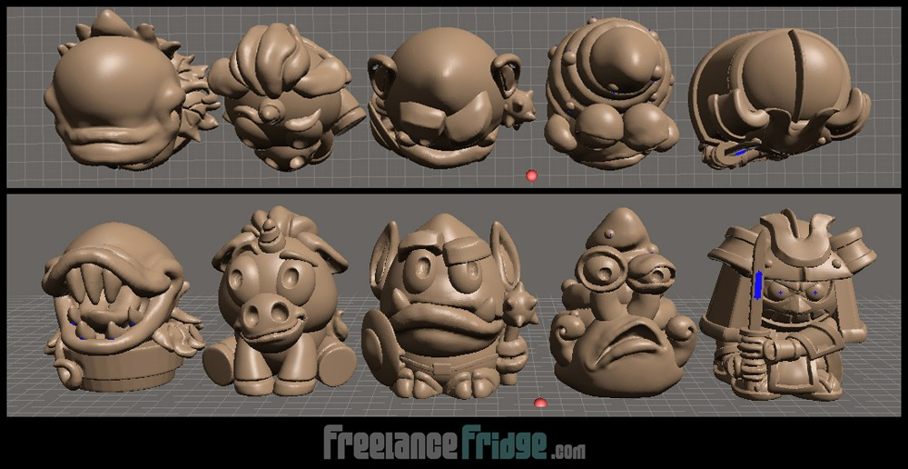 Fantasy SciFi Cartoon Cute Imagiminis 2 Toy Figurines 3D File sizing for print