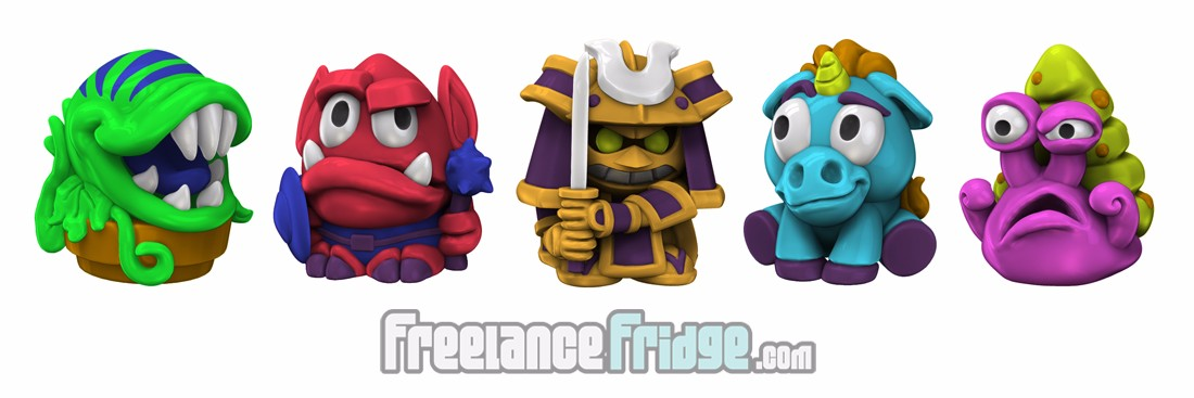 Imagiminis 2 Fantasy SciFi Cartoon Cute Toy Figurines 3D Renders