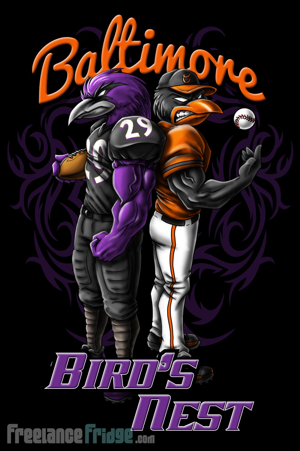 Baltimore Ravens and Orioles T-Shirt Design : Freelance Fridge ...