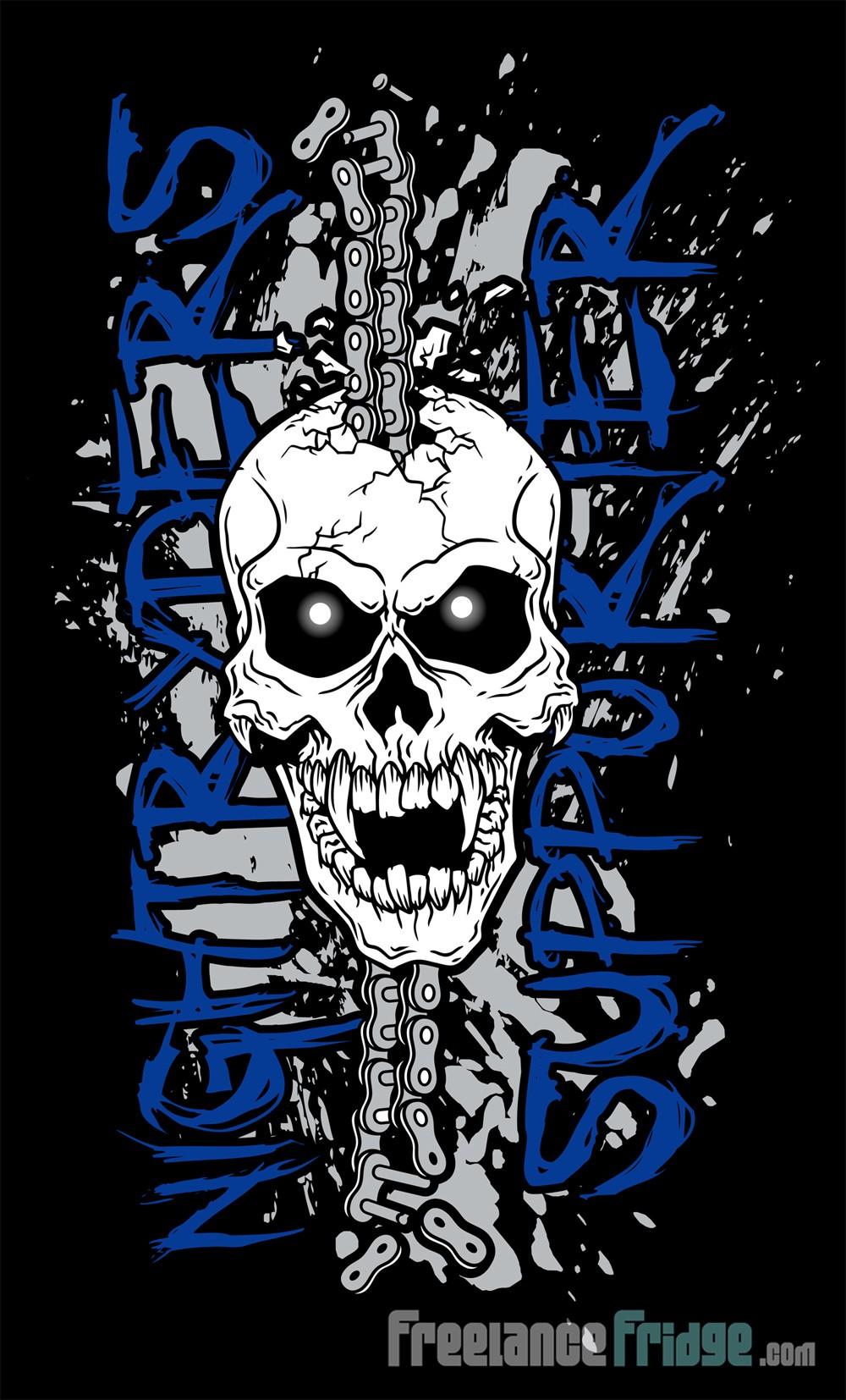 Design t shirt skull - Biker Skull T Shirt Design