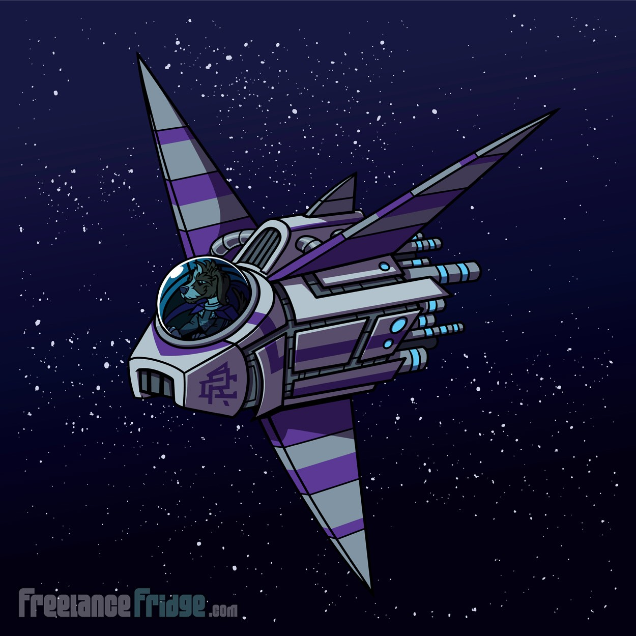 Scifi Librarian Dogs Spaceship vehicle final vehicle artwork illustration