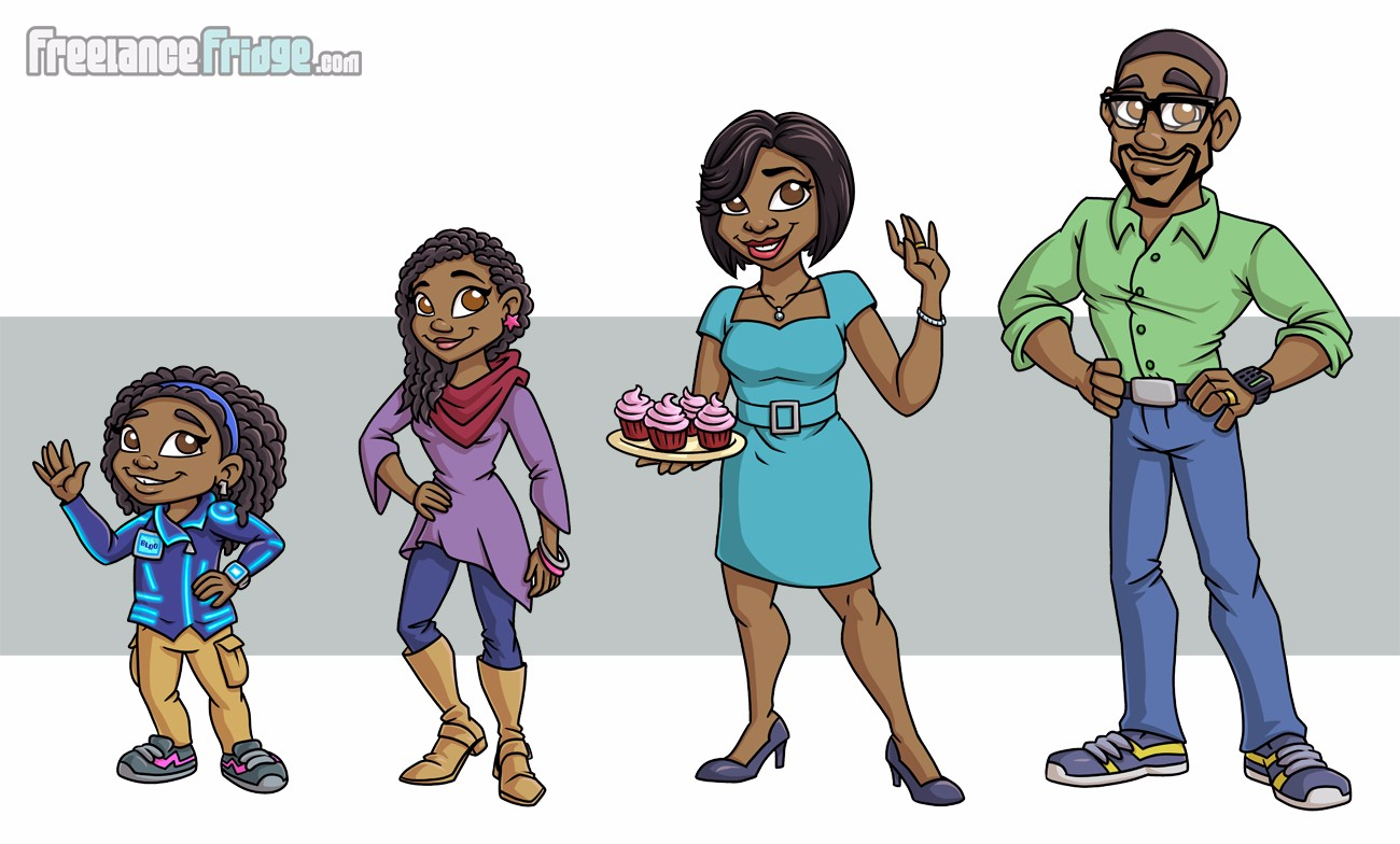 Childrens Book African American family characters illustrations 2