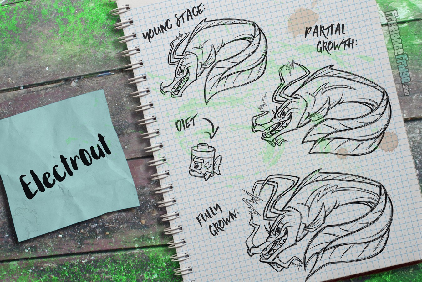 Fish Creature Concept Artwork Sketches Electric Dragon Eel