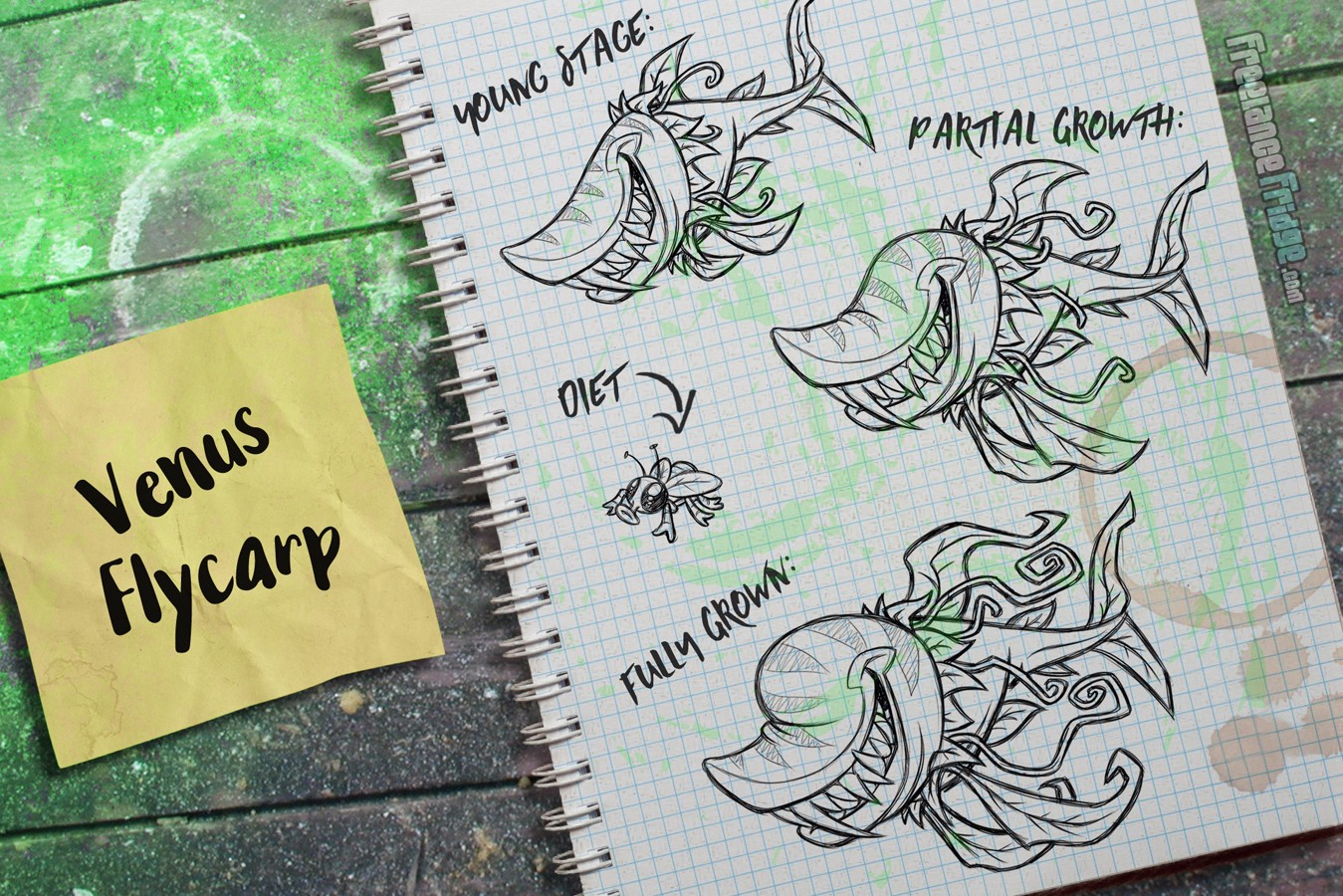 Fish Creature Concept Artwork Sketches Plant Venus Flytrap Shark