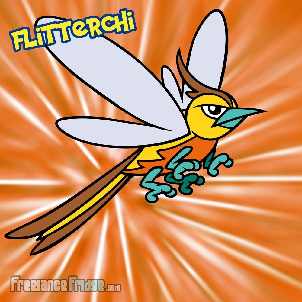 Pokemon Flying Butterfly Sparrow Bird Moth Original Character Creation Flitterchi