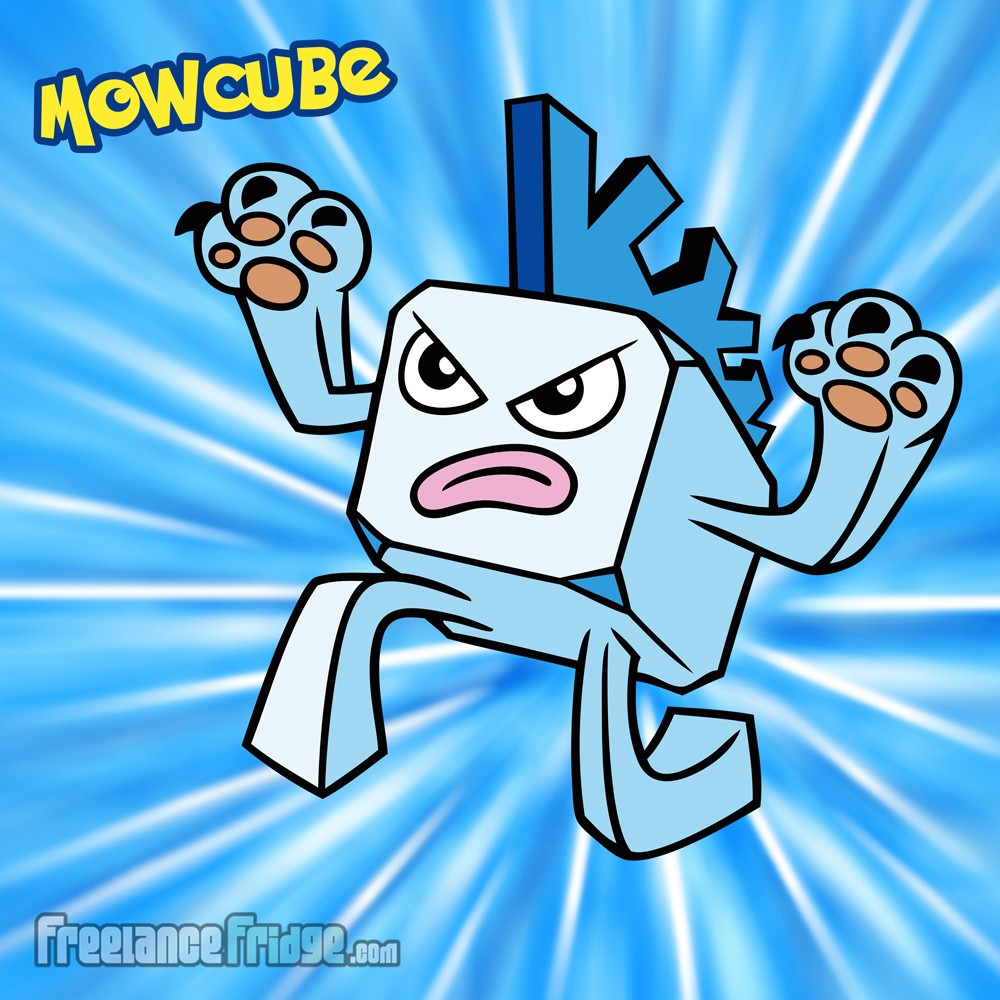 Pokemon Ice Frozen Icecube with Mohawk Original Character Creation Mowcube