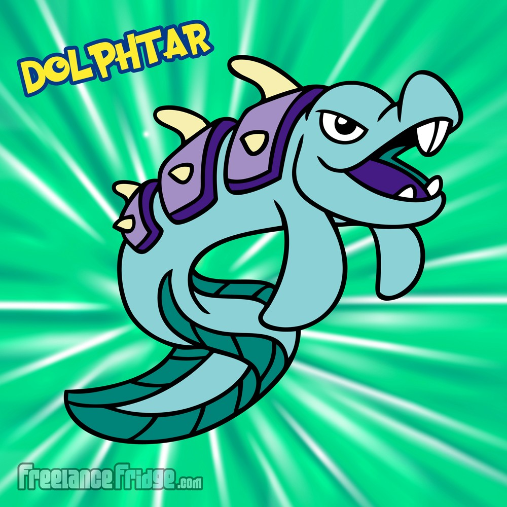 Pokemon Water Armored Dolphin Dinosaur Original Character Creation Dolphtar