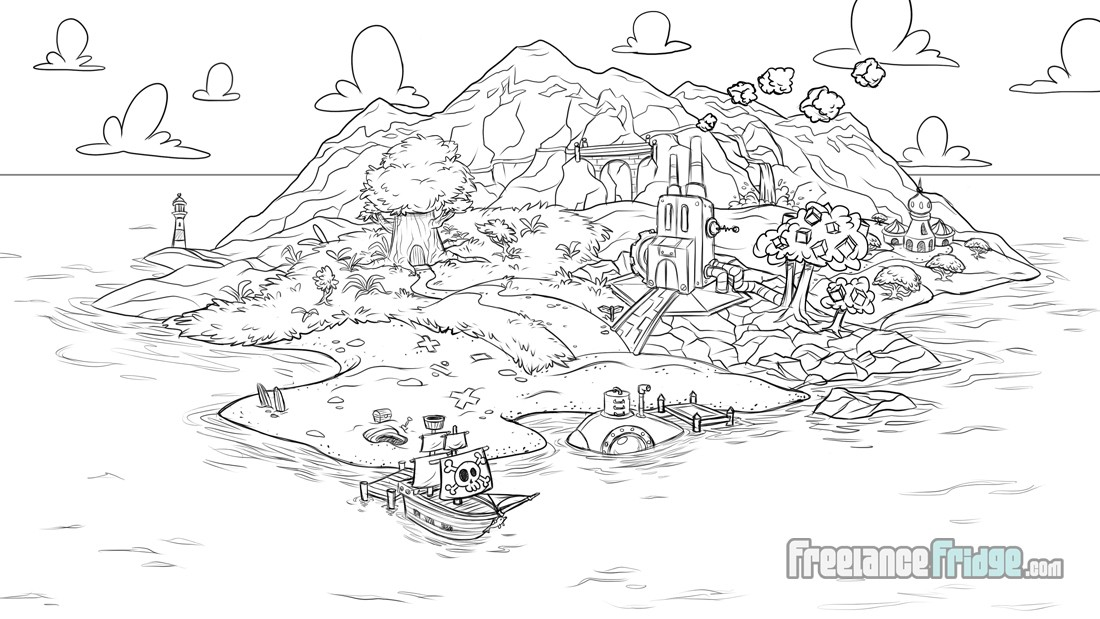 Sokikom island online video game map final approved concept sketch educational math games