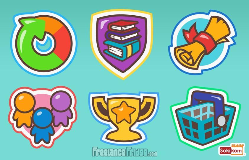 Sokikom kids educational math game navigation icons