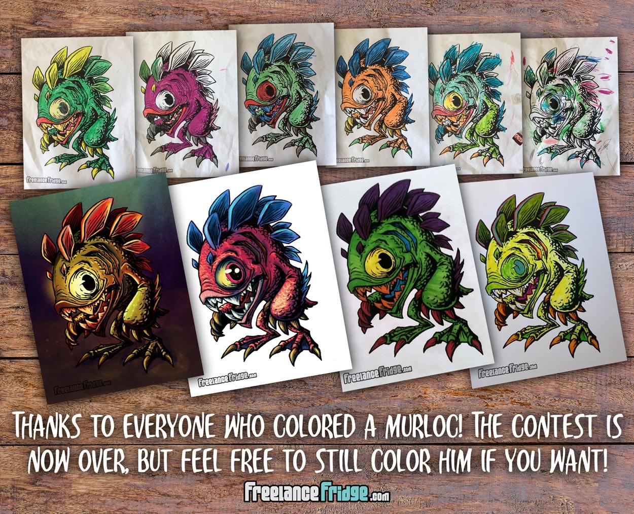 310 Murloc Fish Coloring Contest Participants