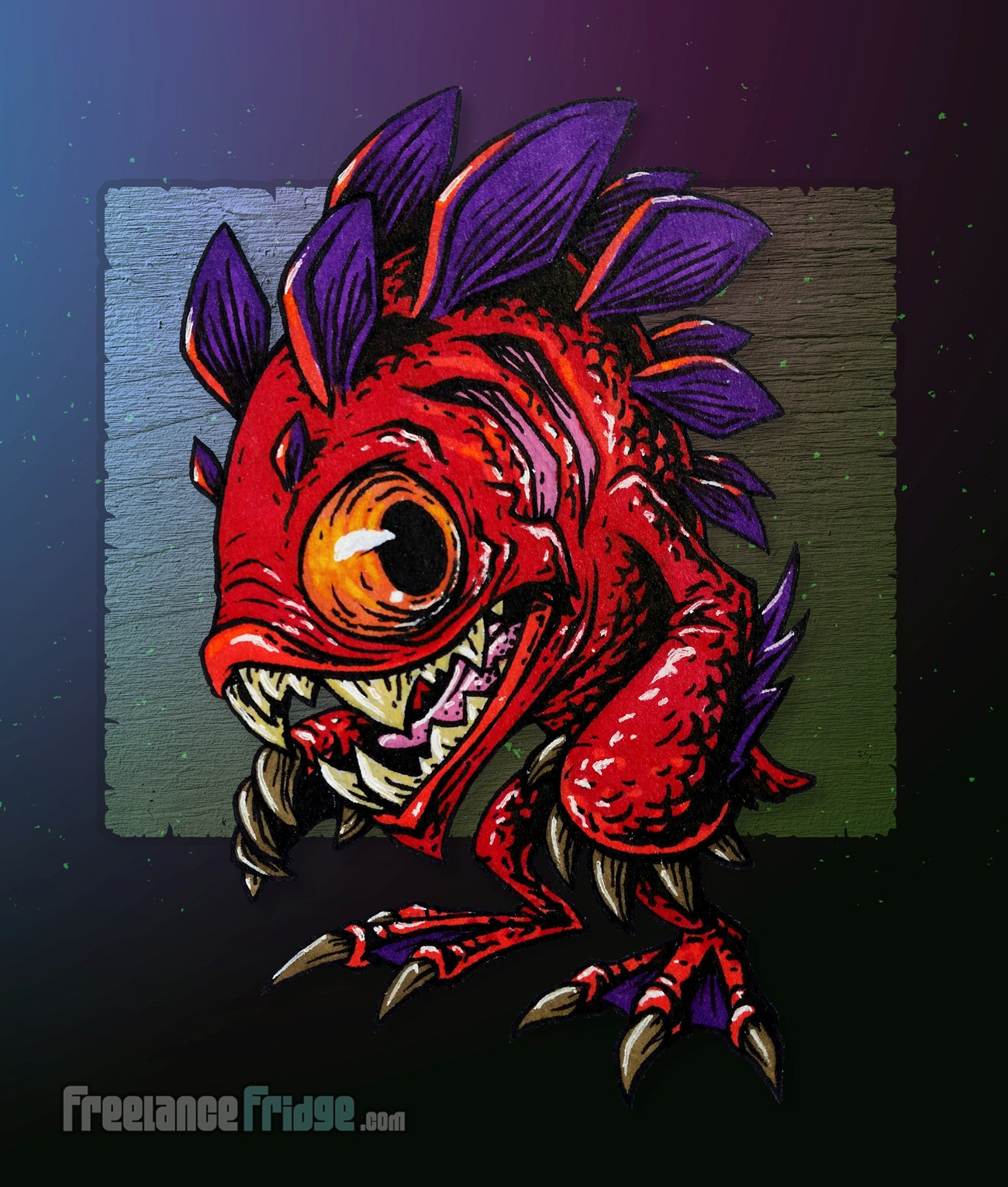 Murloc Fish Creature Design : Freelance Fridge- Illustration ...