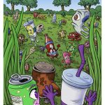 Childrens Book Illustration Interior Page 09 for Ricky and the Grim Wrapper Meeting All the Trash and Can Characters