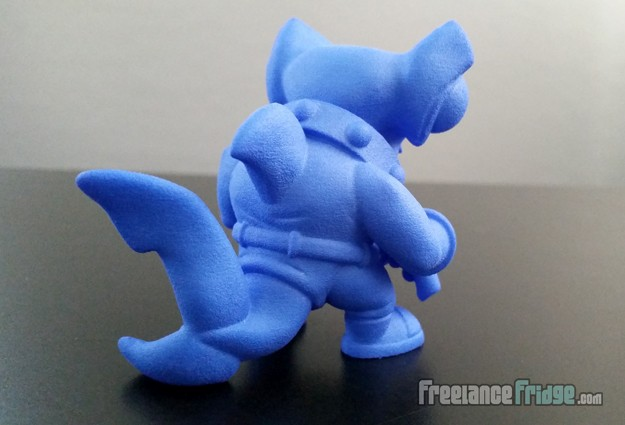 Scuba Shark Original Designed Character 3D Printed Blue Collectible Toy 03 back view
