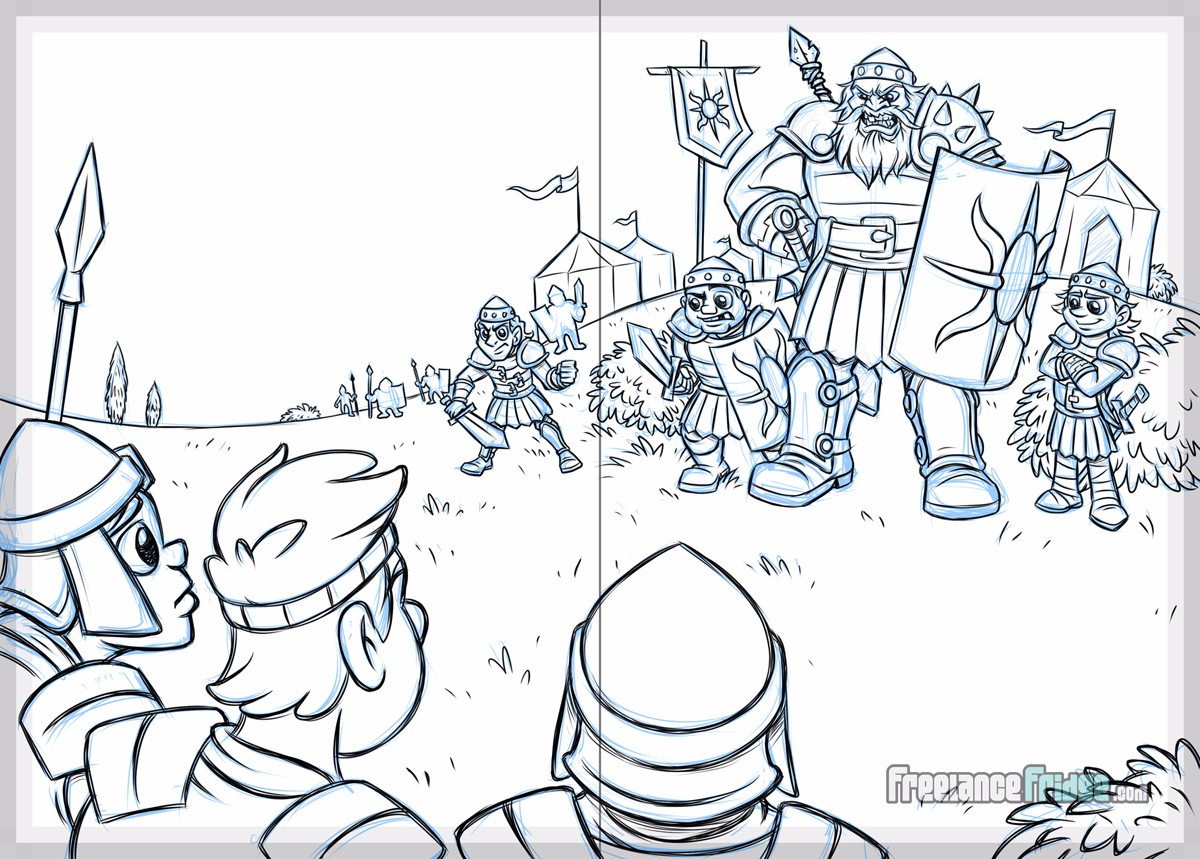 Big Shot Sling Shot David and Goliath Christian Children's Book Sketch Page 03