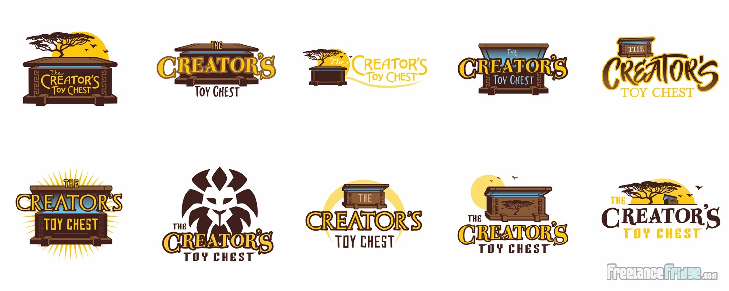 Creator's Toy Chest Christian Children's Book Series Logo Title Concept Options
