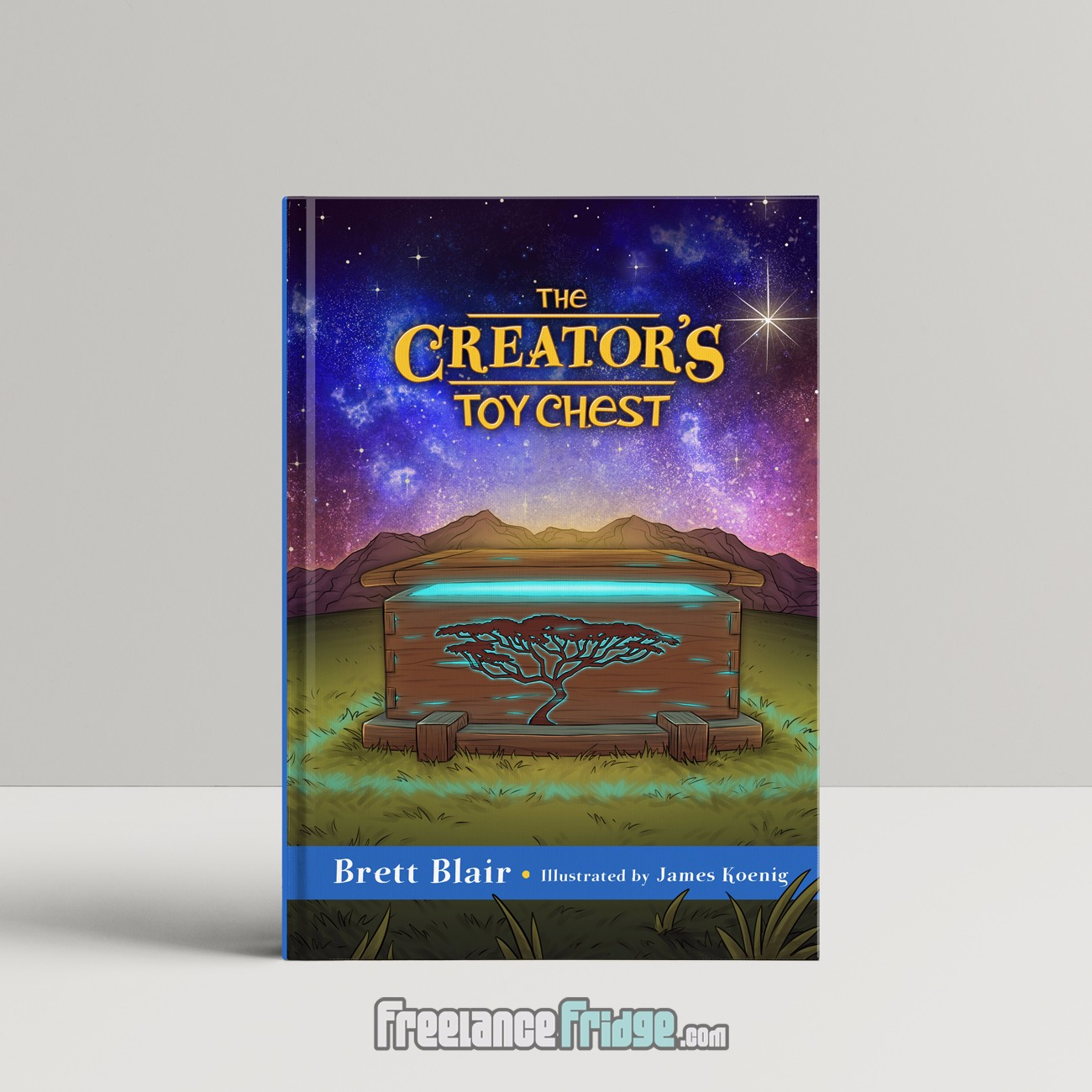 Creator's Toy Chest God's Creation Story Christian Children's Book Cover Illustration standing up