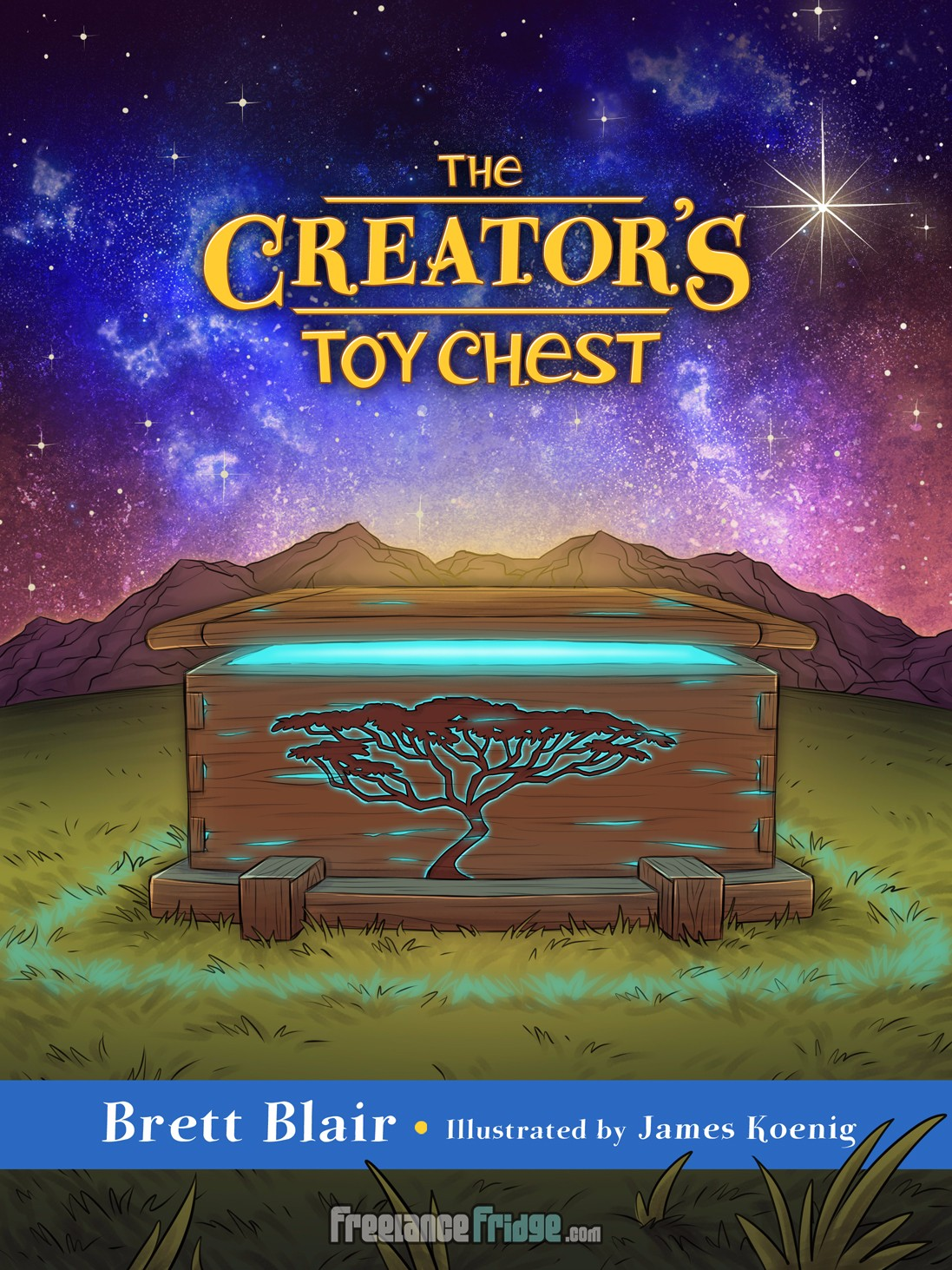 Creator's Toy Chest God's Creation Story Christian Children's Book Cover Illustration