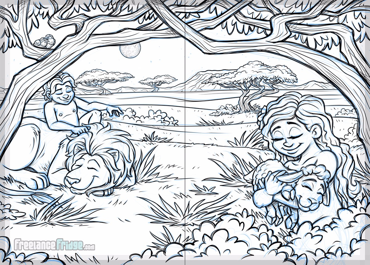 Creator's Toy Chest God's Creation Story Christian Children's Book Sketch Page 15