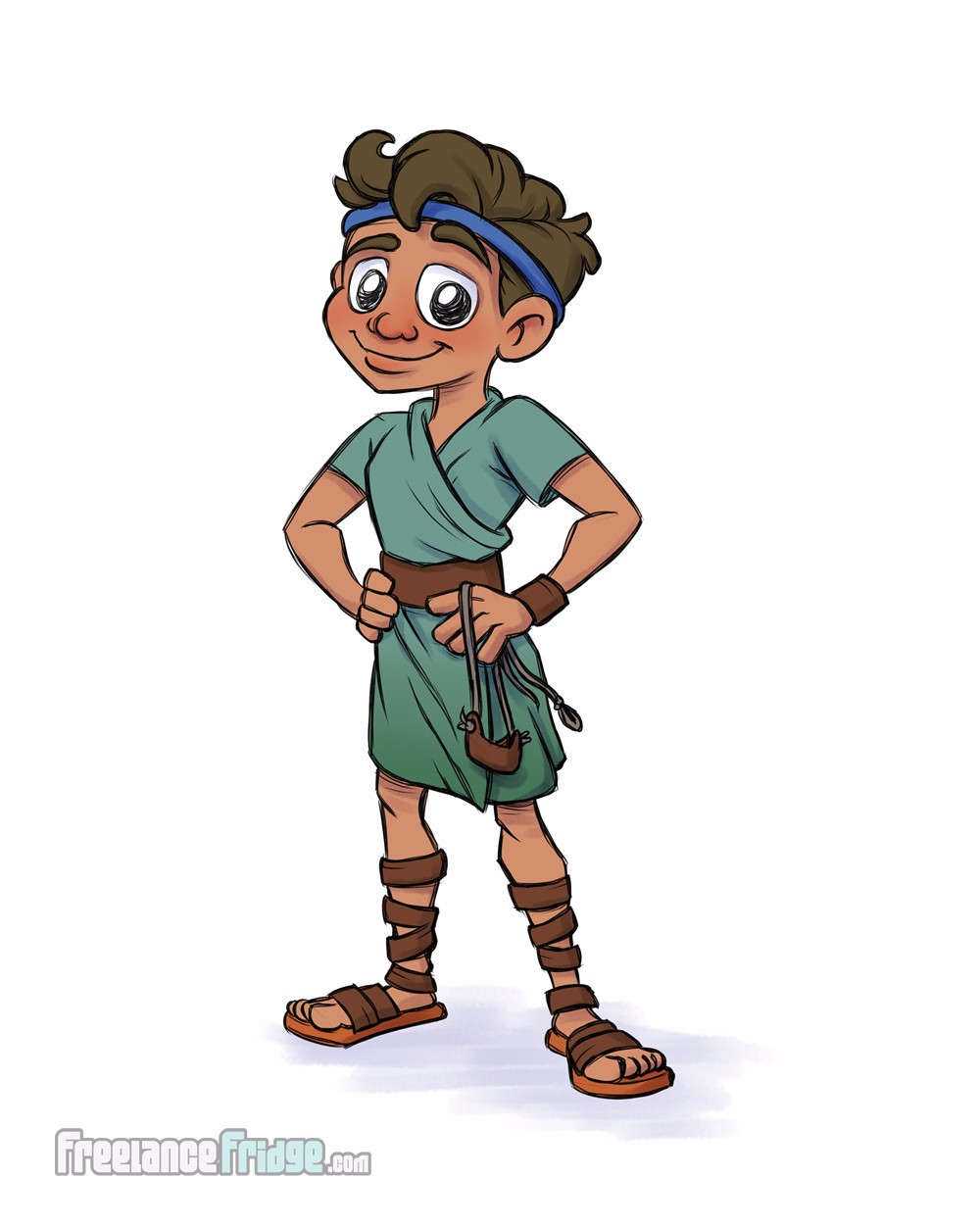 David and Goliath Character Concept Color Final for Kid Literature Children's Book