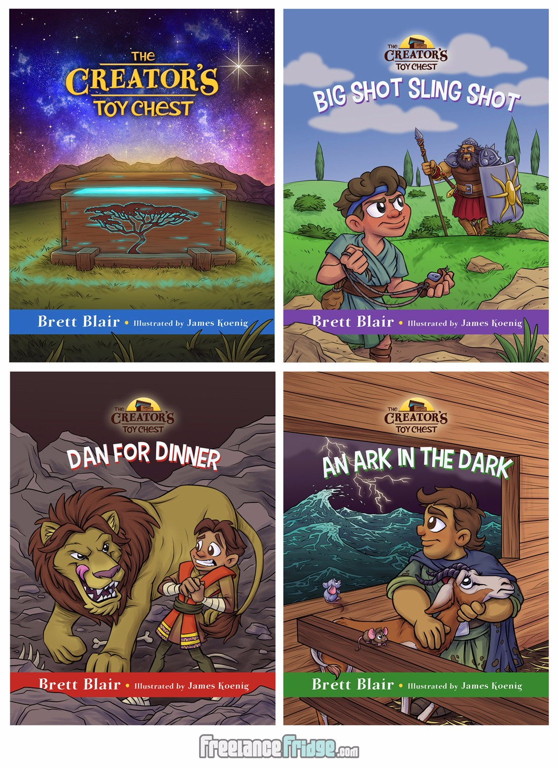 The Creator's Toy Chest All 4 Christian Bible Children's Books Series Covers